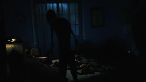 I saw someone in Sam's room.